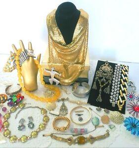 Antique Vintage Victorian Jewelry Lot Baltic Amber GF DFB Co Neiger Czech  ++J10