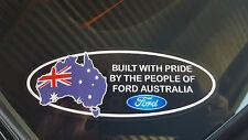 BUILT WITH PRIDE FORD AUSTRALIA STICKER/1PAIR KILLER GRAFFIX XY XD XB AU BA FG