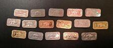 16 x 1 Gram Bullion Bars - Buffalo - GOLD SILVER INDIUM NIOBIUM TIN TITANIUM +++