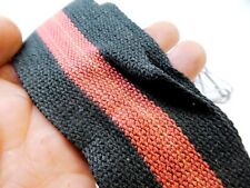 """Red-Black Camera Case Neck Strap 2"""" Wide Hippy style 1960's  Free shipping USA"""