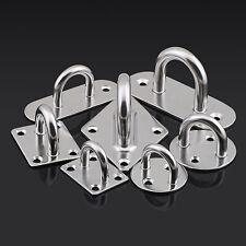 Pad Eye Plate Staple 304 Stainless Steel Ring Hook Loop For Boat Hammock M5~M12