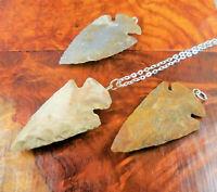 Arrowhead Necklace - Fancy Jasper Carved Pendant Charm (CC17)