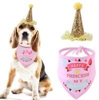 Pet Birthday Hat & Bandana Scarf Set for Dog Puppy Birthday Party Supplies NEW