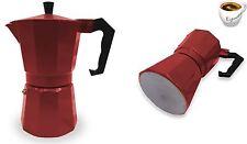 STUFA ESPRESSO COFFEE MAKER MOKA continentale a Filtro POT 1 Cup Rosso