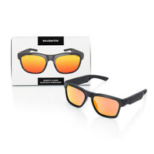Red Wireless Bluetooth Polarized Sunglasses, Open Ear Music, Hands-Free Calling
