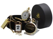 JOHN WAYNE POCKET WATCH Signed Quote and Keyring 24k Gold Clad Luxury Gift Set