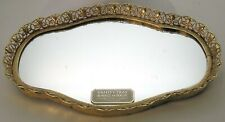 """Fancy 1950/60's Gold Tone Filigree Vanity Tray or Wall Mirror 9-3/4""""by 6-3/4"""""""