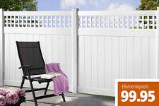 Kunststoff Zaun mit Rankgitter weiß, Streichfrei, Sichtschutzzaun, Zaun