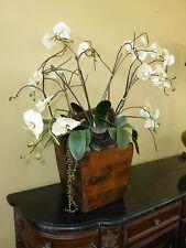 "New listing Gorgeous Table Decor Faux Flower Arrangement w Wooden Flower Pot 40"" Tall"