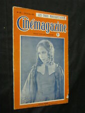 OCT 28, 1921 FRENCH CINEMAGAZINE Uncut Complete 29 pgs