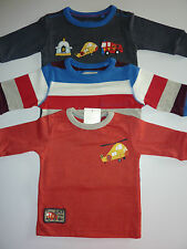 NEXT 3 Cute Little Boys Emergency Transport Long Sleeve Tops Size 3-6 Months NWT