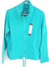 NWT LADIES CENTRAL PARK FULL ZIP TURQUOISE JACKET SIZE SM.