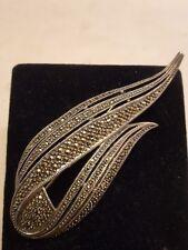 Stunning Judith Jack Sterling Silver Marcasite Brooch    490116