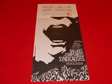 COLL.J. LE BOURHIS AFFICHES MOULOUDJI CHANTS SYNDICATS 1973 PIGNON ERNEST ANGERS