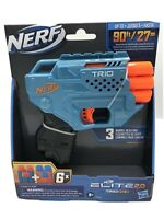 NERF Elite 2.0 Trio TD-3 Blaster, 6 Official Nerf Darts. New!