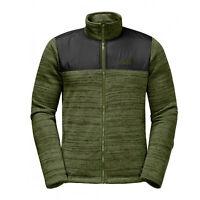 Jack Wolfskin Mens Aquila Jacket Zip Up Fleece Track Top 1704591 4521