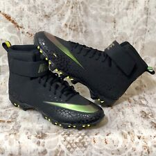 Men's Nike Force Savage Shark Cleats Black Anthracite Size 14  880109-011 NWOB