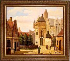 Gemälde Ölbild handgemalt Bild historische Stadtansicht Ölgemälde