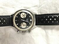 Heuer Carrera Reverse Panda 7753 NS Vintage Rare Watch Excellent Condition