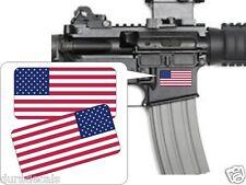 Pair American Flags AR15 Lower Stickers | Decals | Hard Hat Helmet Flag