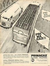 Publicité 1966  PRIMAGAZ  butane - propane  chauffage eau chaude cuisine