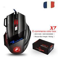 Souris Gaming USB LED 5200 Filaire Optique Mouse pour Gamer Ordinateur Laptop