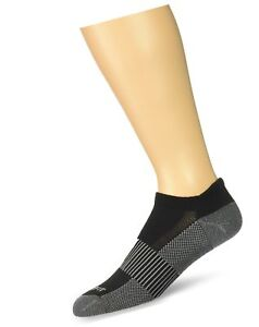 Copper Fit Unisex Copper Infused No Show Socks - 3 Pack Black Large / X-L... New