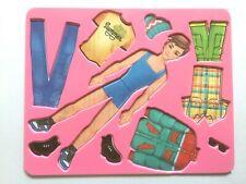 "Stencil Template Pattern for DIY BOY Paper Doll 20,5x16,5 cm 8""x6.5"""