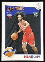 2019-2020 Panini NBA Hoops Coby White Rookie Card Rc Tribute Chicago Bulls 📈🔥