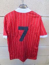VINTAGE Maillot porté LA DEPECHE DU MIDI rouge n°7 cousu trikot shirt années 80