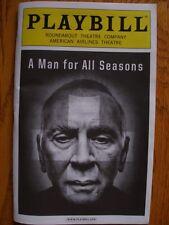 Playbill A Man for All Seasons Frank Langella Patrick Page Maryann Plunkett