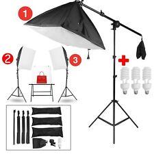 3x 135 W Boite Lumière Softbox pour Flash Studio Photo Video Kit  E27  5500K
