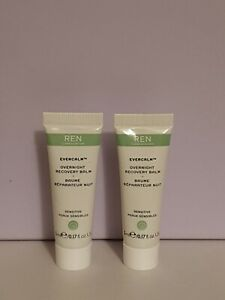 2 x REN EVERCALM Overnight Recovery Balm 5ml NEW & FOIL SEALED