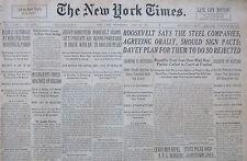 6-1937 June 13 INSURGENTS ENTER BILBAO DEFENSES PLANES BOMB CITY SPAIN CIVIL WAR