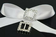 Lot Of 17 Bling Bling  Rhinestone Crystal Buckle Slider Square Ribbon Belt Decor