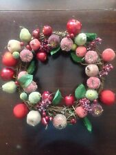 Vintage Sugared Fruit Door Grapevine Wreath