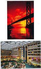 SAN FRANCISCO OAKLAND BAY BRIDGE AT NIGHT CA & Hyatt Orlando FL POSTCARDS (59)