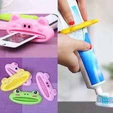 1* Bathroom Home Rolling Tube Holder Squeezer Easy Cartoon Toothpaste Dispenser