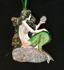 Christmas Mermaid Ornament Handcrafted Sea Lore Friend Gift Beach House Decor