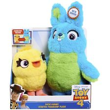 Disney Pixar Toy Story 4 Scented Bunny And Ducky Plush, 2019, New in Packaging
