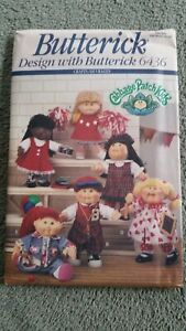 Butterick Pattern 6436 Cabbage Patch Kids Doll Clothes UNCUT 1982