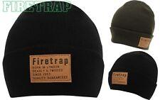 Mens  Firetrap OS Cuff Hat Beanie New Winter Headwear Beanie