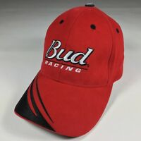 NASCAR Bud Racing Hat with Silver Letters and Flames DP Racing 2002