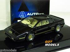Autoart 1/43 Scale - 55302 Lotus Esprit Turbo Black Diecast model car