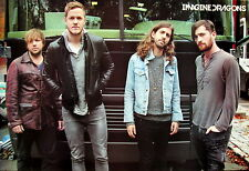 "IMAGINE DRAGONS ""GROUP STANDING IN FRONT OF BUS"" POSTER FROM ASIA"