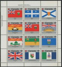(756) A Canadian PO pad of 50 Scott #832a Sheetlets, Flags,  MNH, Free Shipping