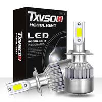 2 H7 110W 26000lm LED Car Headlight Lamp Conversion Globes Bulbs Beam 6000K Kits