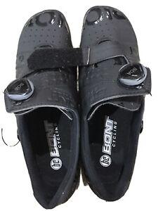 Bont Riot+ Boa Road Bike Shoes Black sz 45 EU. Only done 2x indoor rides