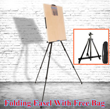 Alloy Artist Folding Easel Stand White Wood Board Tripod Display Exhibition