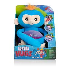 Fingerlings HUGS BORIS (Blue) Advanced Interactive Plush Baby Monkey Pet WowWee